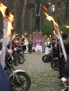 Prayers at the Katyn International Motorcycle Ride 2006